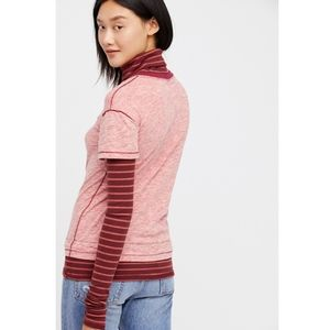 Free People Piper Twofer Turtleneck Layered Top